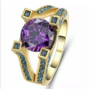 Women's fashion amethyst ring 8